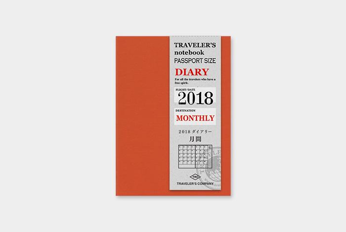 Kalendarz Travelers Notebook miesieczny 2018 Monthly Diary Passport 2018 sklep pioromaniak