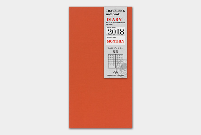 Kalendarz Travelers Notebook miesieczny 2018 Regular Diary 2018 sklep pioromaniak