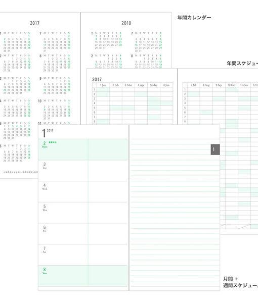 Kalendarz Midori Pouch Diary 2018 Madras Check Navy Slim sklep Pioromaniak