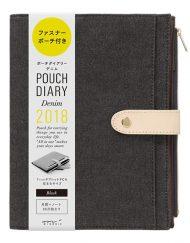 Kalendarz Midori Pouch Diary 2018 Denim Black A5 sklep Pioromaniak