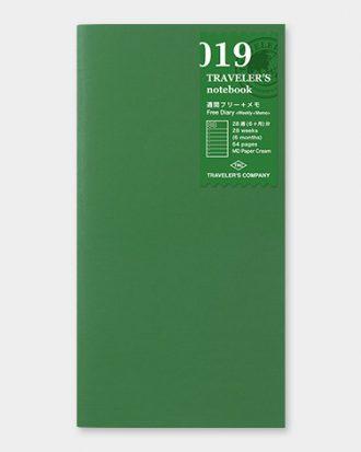 Travelers Notebook wklad 019 kalendarz sklep Pioromaniak