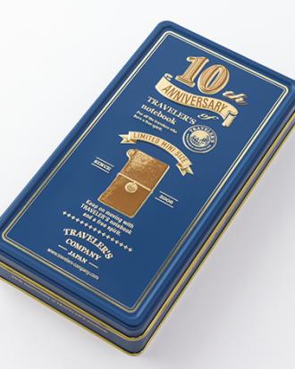 Travelers Notebook Mini 10th Anniversary Kit camel sklep