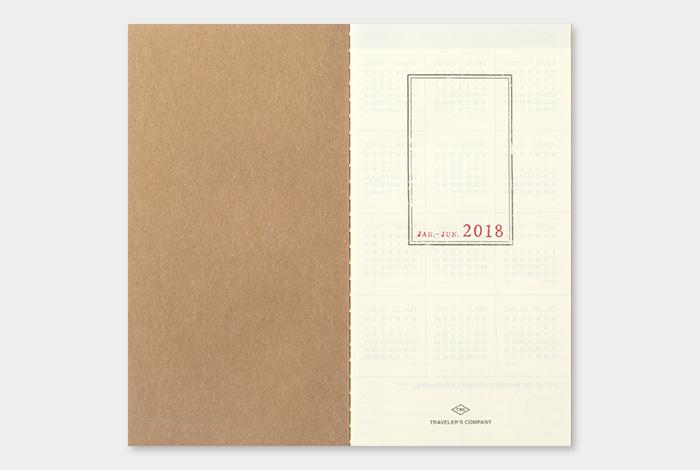 Kalendarz Travelers Notebook tygodniowy wertykalny 2018 Regular weekly vertical Diary 2018 sklep pioromaniak