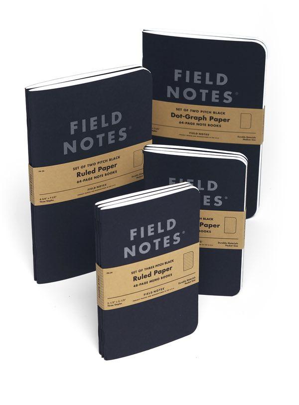 Field Notes Pitch Black sklep Pioromaniak