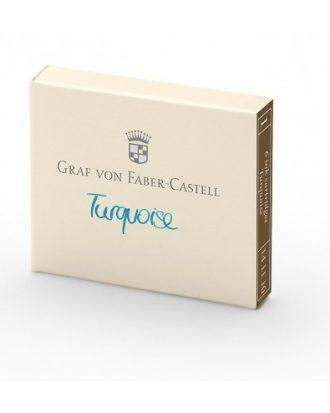Graf von Faber Castell turkusowy naboje do piora