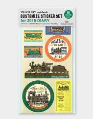 Travelers Notebook - zestaw naklejek 2018 - Sticker Set - sklep Pioromaniak.pl