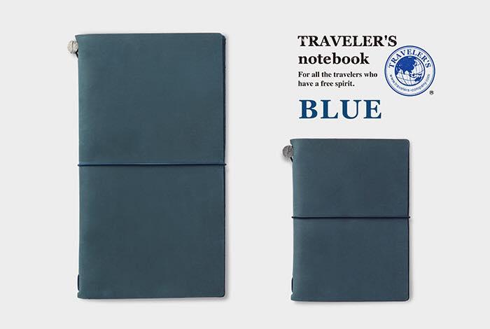 Travelers Notebook Regular vs Passport niebieski