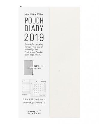 Midori Pouch Diary 2019 refill wklad