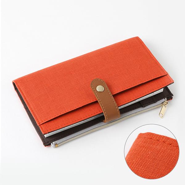 Midori Pouch Slim Diary Red