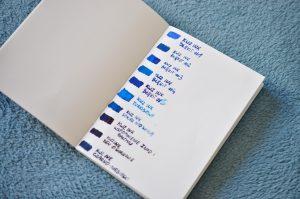 Porownanie niebieskich atramentow Kwz Ink