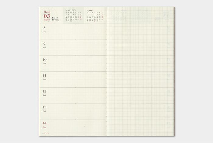 Kalendarz Traveler's Notebook Memo Weekly 2021