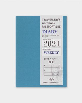 Kalendarz Traveler's Notebook Weekly 2021 - tygodniowy (Passport)