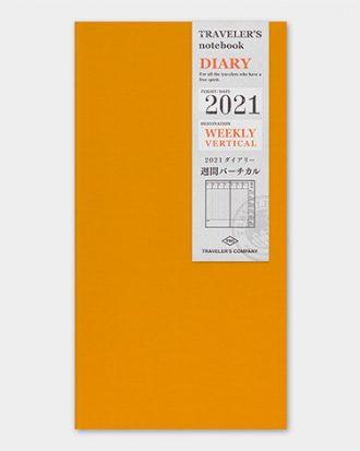 Kalendarz Traveler's Notebook tygodniowy wertykalny 2021 weekly vertical