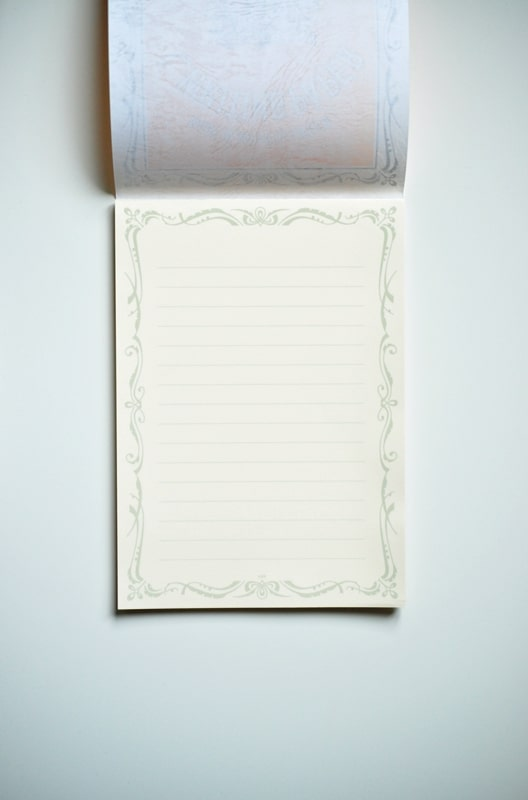 Life L Brand Writing Paper Pad A5 Horizontal Interior
