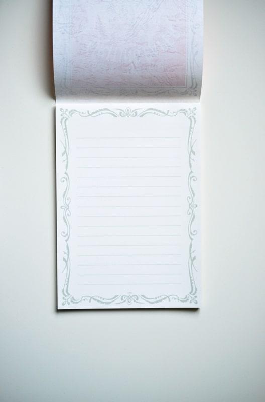 Life L Brand Writing Paper Pad A5 Horizontal White