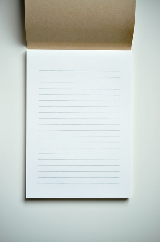Life L Brand Writing Paper Pad B5 Horizontal
