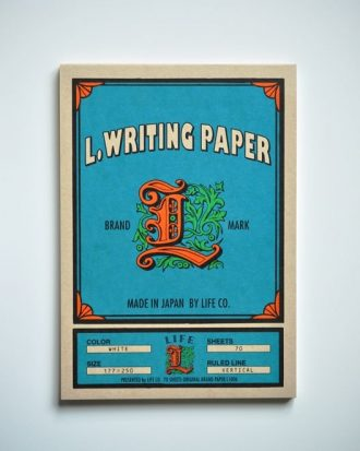 Life L Brand Writing Paper Pad B5 Vertical