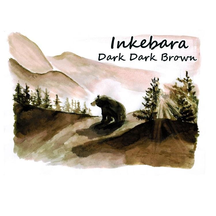 Inkebara Dark Dark Brown Ink atrament pioromaniak
