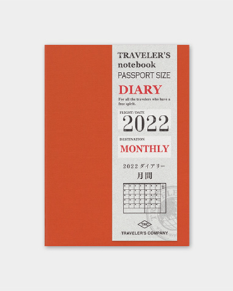Kalendarz Travelers Notebook Passport Monthly 2022