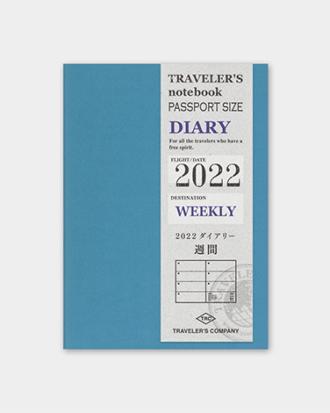 Kalendarz Traveler's Notebook Weekly 2022 - tygodniowy (Passport)