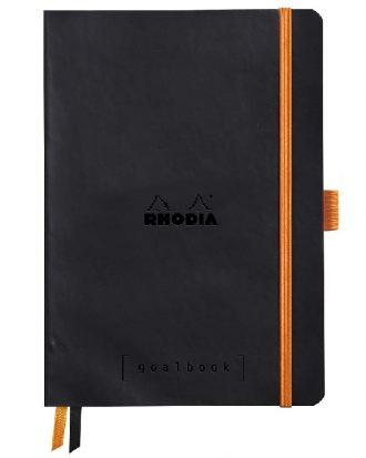 Rhodia Goalbook A5 kropki czarny miekka okladka papier bialy