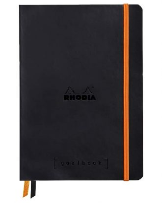 Rhodia Goalbook A5 miekka okladka czarny papier kremowy