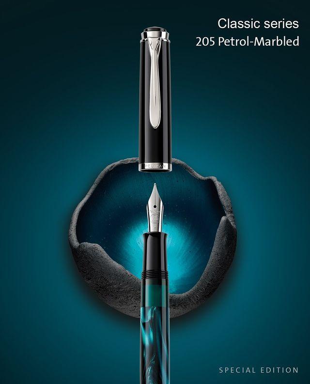 Pelikan M205 Petrol Marbled pioro wieczne