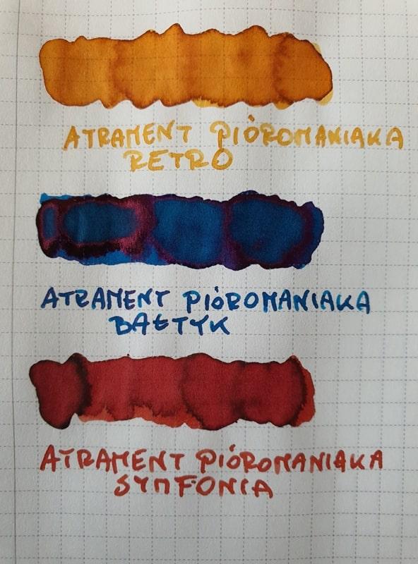 Atrament Pioromaniaka porownanie kolorow edycja 4