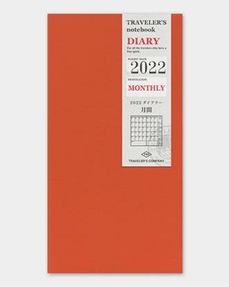 Kalendarz Traveler's Notebook Monthly 2022 miesięczny