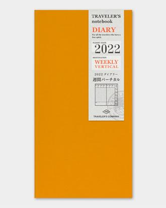Kalendarz Traveler's Notebook tygodniowy wertykalny 2022 weekly vertical